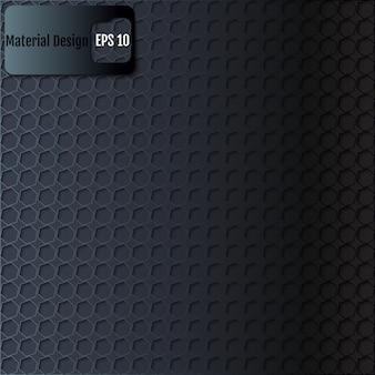Fondo negro de textura hexagonal. vector