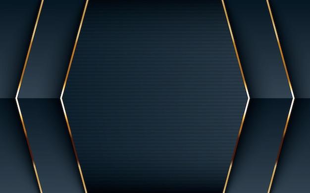 Fondo negro texturado con linea dorada.