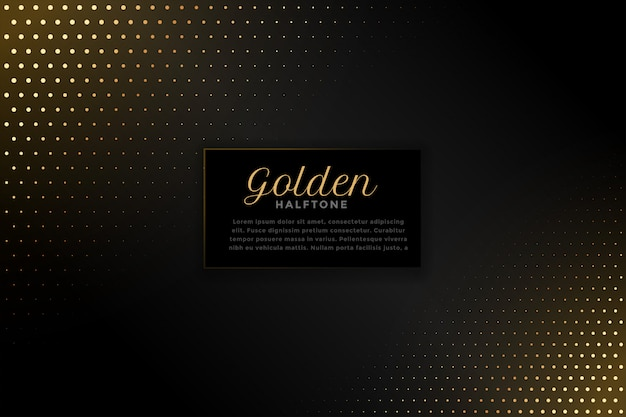 Fondo negro con tono medio dorado