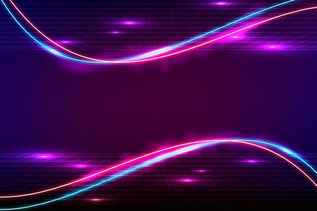 Fondo de neón de colores brillantes