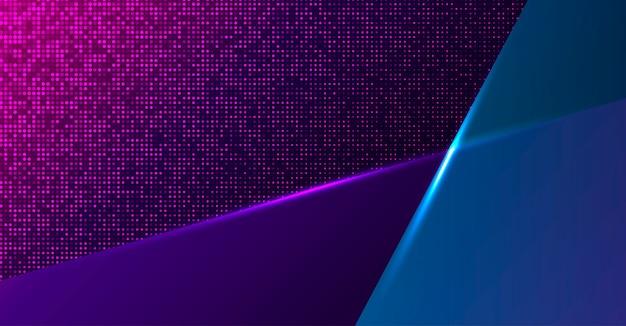 Fondo de neón geométrico colorido