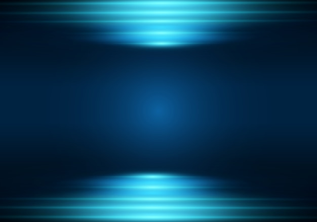 Fondo de neón. ilustración con efecto de luz azul.