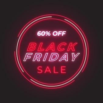 Fondo de neón de venta de viernes negro