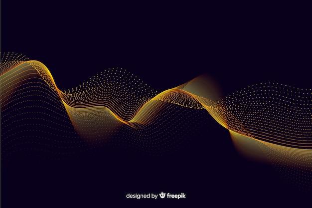 Fondo neto abstracto partículas doradas