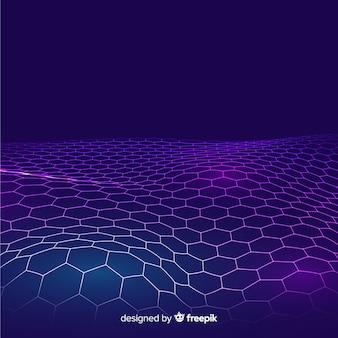 Fondo neto hexagonal futurista