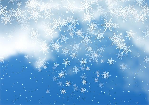 Fondo de nieve de navidad