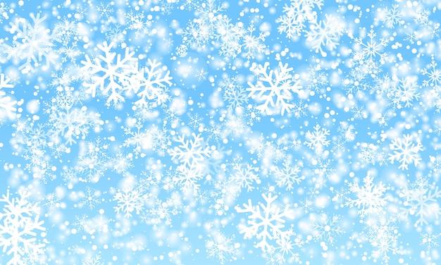 Fondo de nieve nevadas de invierno. .