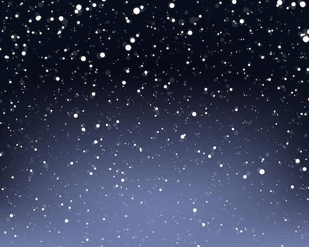 Fondo de nieve que cae