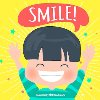 Fondo de niño sonriendo