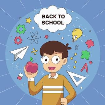 Fondo de niños dibujados a mano a la escuela
