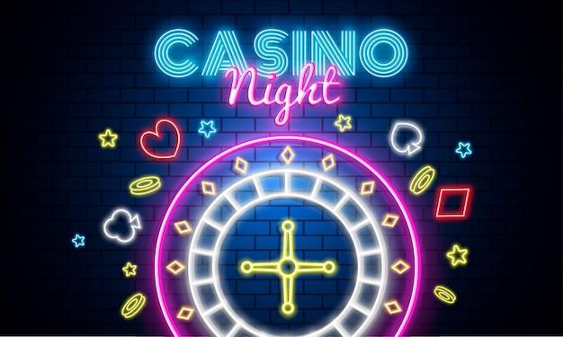 Fondo de la noche del casino.