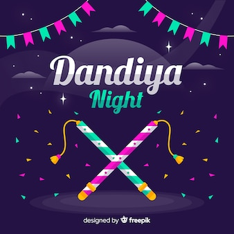 Fondo de la noche dandiya