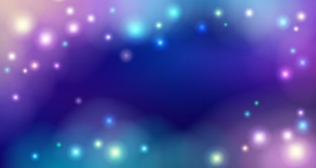 Fondo de noche de espacio azul con estrellas.