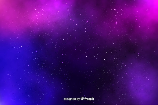 Fondo de noche estrellada con estrellas en el cielo