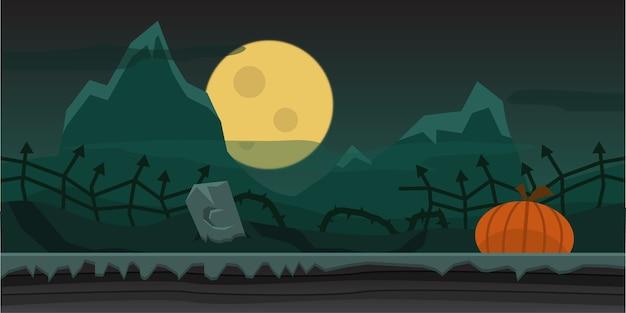 Fondo de noche de halloween de terror