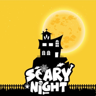 Fondo de noche de miedo feliz halloween