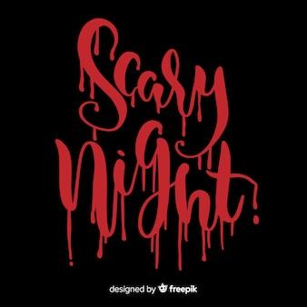 Fondo de noche de terror de hallowing con tipografía