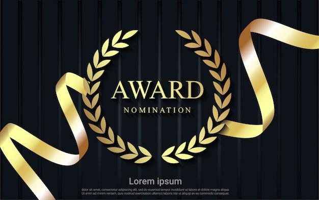 Fondo de nominación de premio con cinta