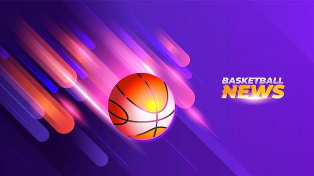 Fondo de noticias de baloncesto con luces