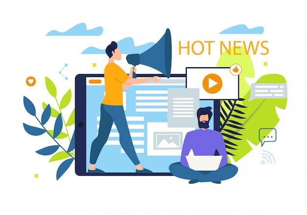 Fondo de noticias calientes