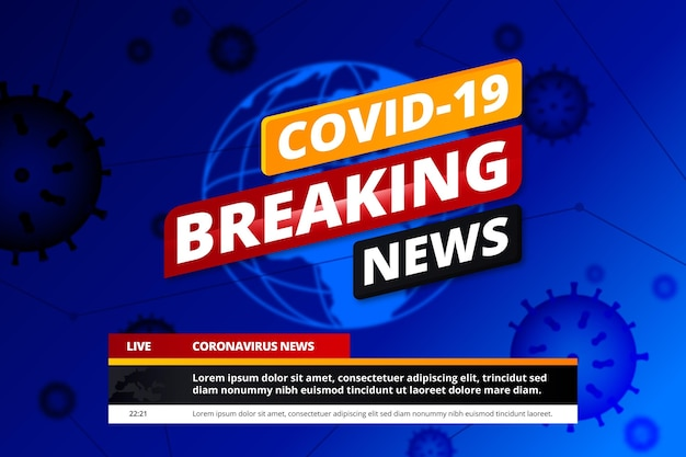 Fondo de noticias de última hora de covid19