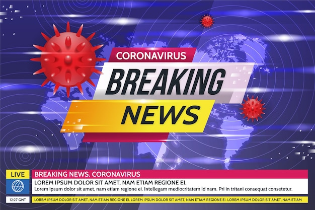 Fondo de noticias de última hora sobre coronavirus
