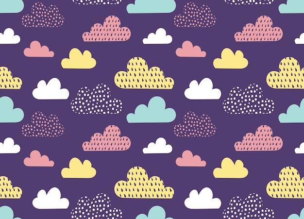 Fondo de nube de dibujos animados