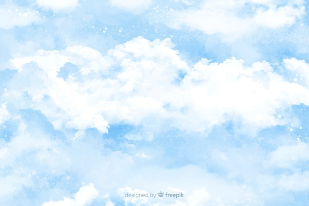 Fondo de nubes acuarela
