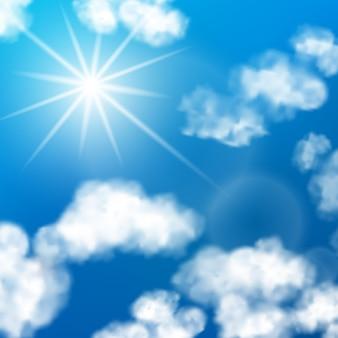 Fondo de nubes de cielo