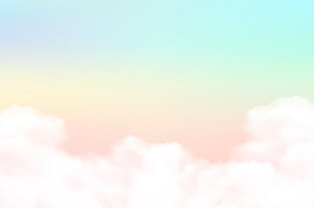 Fondo de nubes con un color pastel.