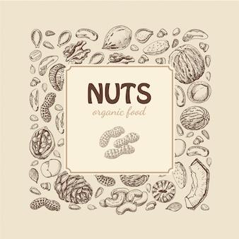 Fondo de nueces y semillas