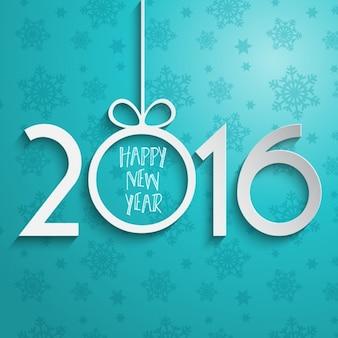 Fondo de número de año nuevo de papel
