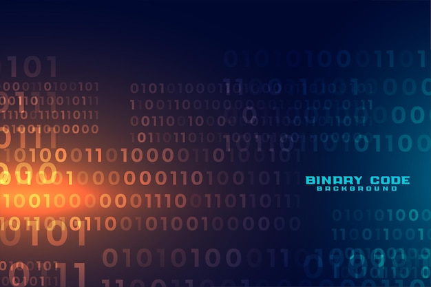 Fondo de número de código binario futurista digital