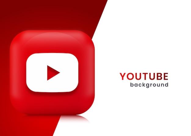 Fondo o banner de you tube 3d