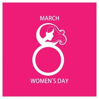 Fondo de ocho para el día de las mujeres