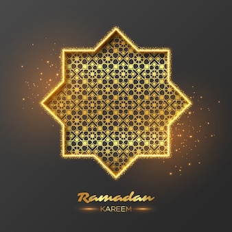 Fondo de octágono de brillo de ramadán kareem