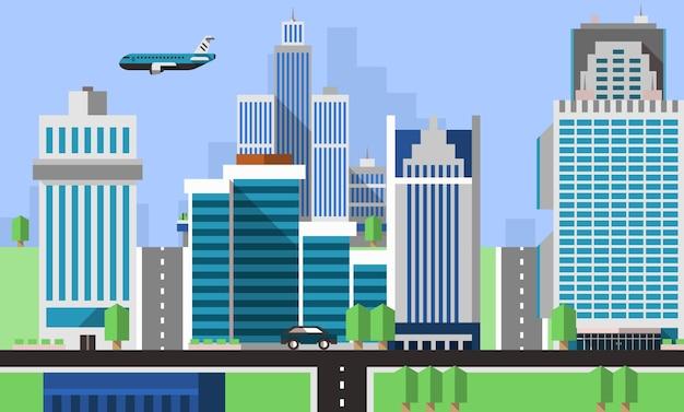 Fondo de oficinas de rascacielos
