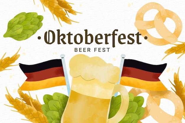 Fondo de oktoberfest en acuarela