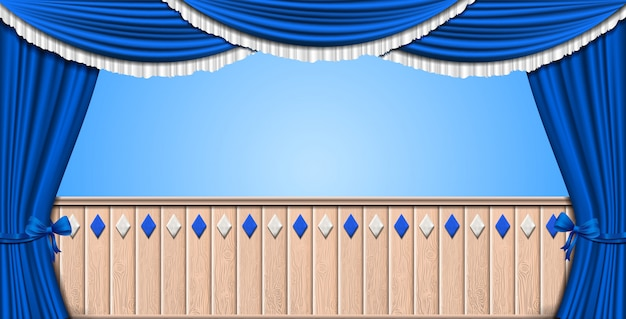 Fondo de oktoberfest con cortina azul