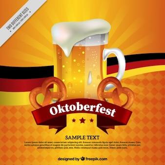 Fondo de oktoberfest de refrescante cerveza