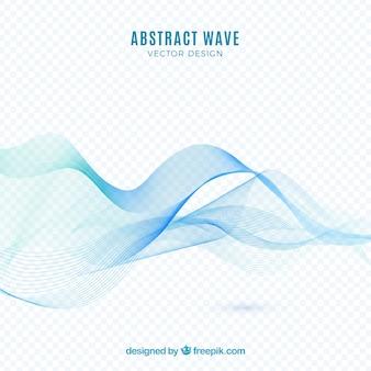 Fondo con ola abstracta