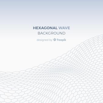 Fondo de ola hexagonal