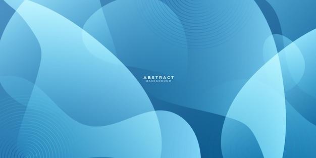 Fondo de onda azul abstracto con concepto corporativo moderno. fondo de forma geométrica degradado azul y blanco