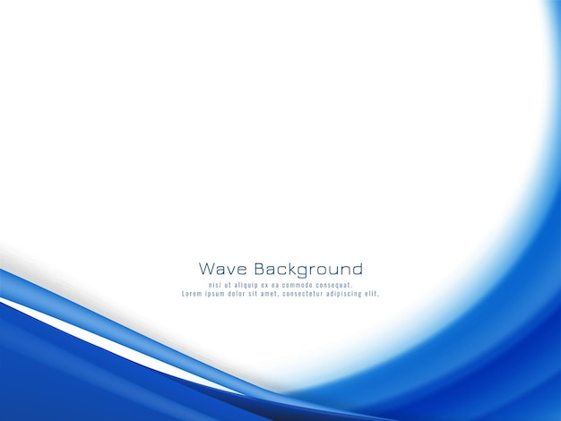 Fondo de onda azul con estilo abstracto