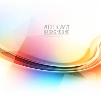 Fondo de onda brillante colorido abstracto