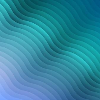 Fondo de onda de color degradado azul abstracto para folleto de diseño, sitio web, volante, papel tapiz con patrón de ondulación. telón de fondo geométrico para presentación de negocios.