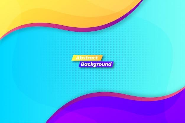 Fondo de onda colorido abstracto atractivo
