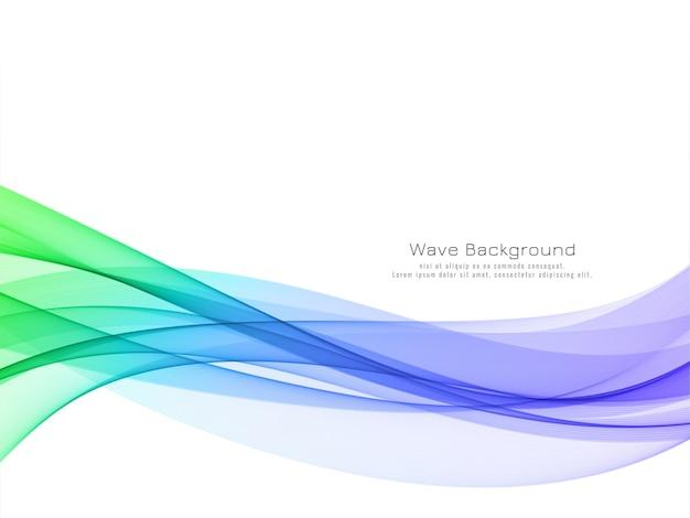 Fondo de onda colorido elegante elegante