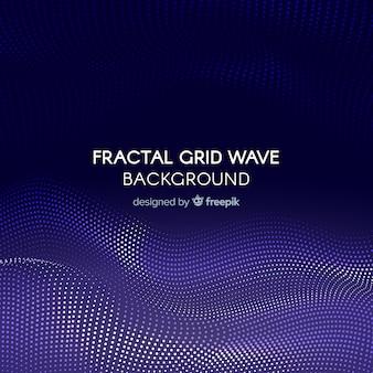 Fondo onda cuadrícula fractal