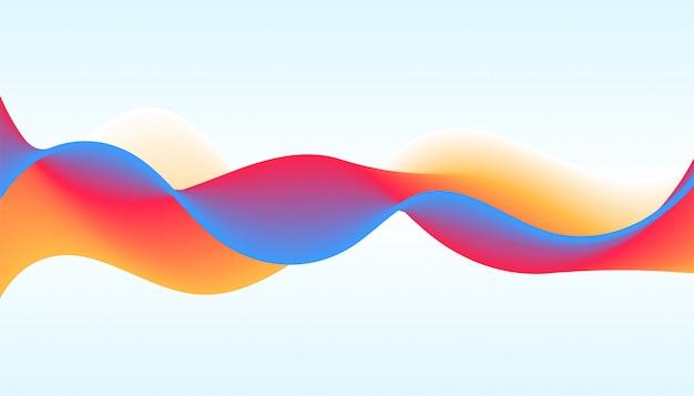 Fondo de onda dinámica vibrante en estilo moderno